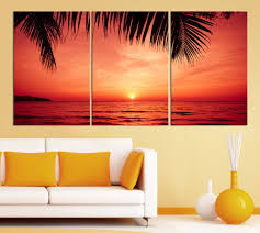 3 piece red sunset and palms large wall art canvas print x large wall art on sunset wall art canvas with 3 piece red sunset and palms large wall art canvas print x large