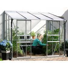 ida large anodised aluminium wall garden greenhouse 3 sizes free matching base special offer