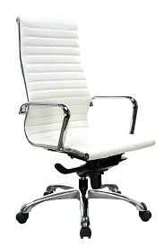 white leather executive chair. Executive Office Chair Leather Stock Furniture Segmented Swivel Brown White T