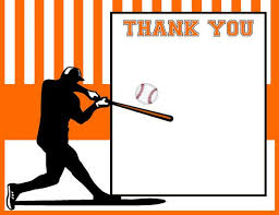 Baseball Thank You Card Baby Shower Thank You By Adtrcustomdesigns