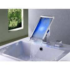 contemporary waterfall bathroom sink faucet chrome finish contemporary color changing led waterfall bathroom sink faucet