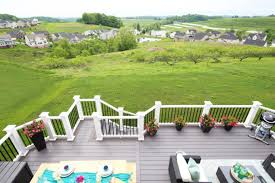 patio deck decorating ideas. Backyard Deck Created With AZEK Building Products, View Of Orchard And Farm  Land Patio Deck Decorating Ideas