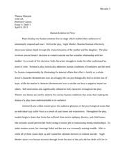 two kinds and everyday use response theresa murante a  5 pages night mother analysis essay