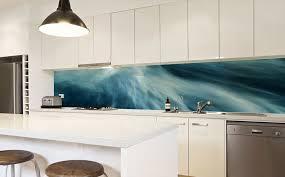 custom designed glass kitchen splashback