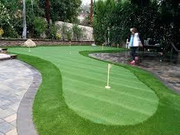 backyard putting green diy synthetic turf village putting green backyard ideas