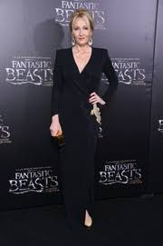 j k rowling style fashion looks stylebistro j k rowling was classic in a black wrap gown at the world premiere of fantastic