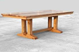 Barnwood Kitchen Table Barnwood Trestle Dining Table In Reclaimed Wood