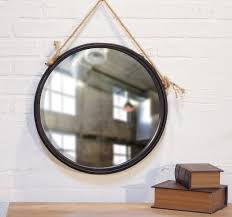 koxze mirror metal art framed round hanging mirror with leather belt throughout round hanging mirror prepare