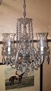posts vintage schonbek crystal 6 arm chandelier