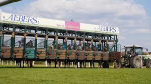 Start Boxes Horse Racing Low Angle Jockeys Horses Enter Start Boxes Stock Video
