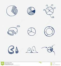 Hand Drawn Pie Chart Set Of Circle Chart Diagram Graph Pie Hand Draw Stock