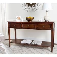 sofa table with storage. Safavieh Manelin Sepia Storage Console Table Sofa With A