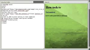 html page print. Exellent Page How To Add A Print Button HTML Page And Html