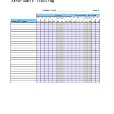Sample Attendance Tracking Simple 44 FREE Attendance Tracker Templates [Employee Student Meeting]