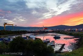 Image result for red sky over belfast