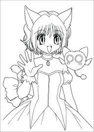 Manga Coloring Pages Drawn Manga Coloring Book 9 Manga Mermaid