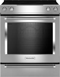 kitchenaid 6 4 cu ft self cleaning slide in electric convection range stainless steel kseg700ess best