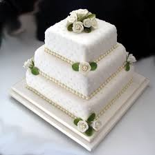 traditional square wedding cakes. Delighful Traditional Square Wedding Cake With Sugar Roses In Traditional Square Wedding Cakes