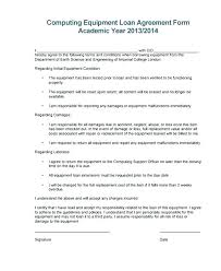 Free Loan Agreement Stunning Equipment Responsibility Agreement Template Soccercleatssale