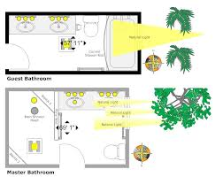 Bathroom Lighting Placement How To Enhance Your Bathroom Lighting Smartdraw Blog