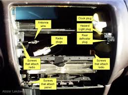 upgrading a car radio (for a toyota corolla) 8 steps Toyota Matrix Radio Wiring Diagram picture of pull out and disconnect the old radio