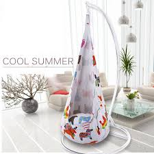 2019 cute colorful printed cartoon children swing chair hammock garden furniture indoor outdoor hanging seat child kids seat patio from aurorl