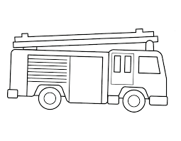 Firetruck Kleurplaat Fire Engine Color Pages Bus Coloring Page Free