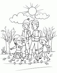 Happy Fall Day Coloring Pages For