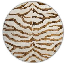 zebra print with faux silk highlights brown