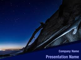 Free Stars In Sky Powerpoint Template Backgrounds Stars In