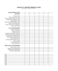Vehicle Service Record Template Log Book Records Heatsticks Co