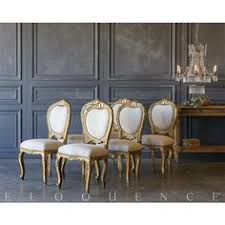 eloquence set of 6 vine gilded side chairs 1940 dining tabledining rooms