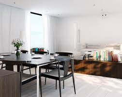 Dining Room Designs: White Modern Kitchen Diner - Decor
