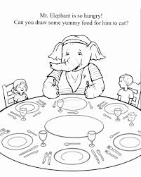 Printable Coloring Page Of Mr Elephant