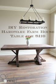 diy how to make a restoration hardware farm house table for 110