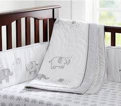 grey elephant crib bedding at pbk cool mom picks