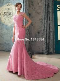 Mermaid Dress Pattern Interesting MZY48 Long Pink Cap Sleeve Sheer Delicate Floor Length Court Train