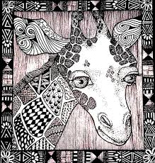 Small Picture Adult coloring page africa Giraffe head 2