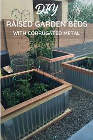 corrugated metal garden beds. Modren Corrugated I Love My DIY Raised Garden Beds Theyu0027re The Perfect Easy Box With Corrugated Metal Garden Beds M