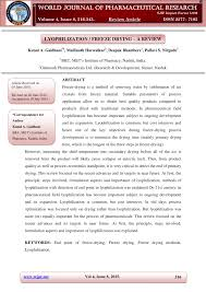 pdf lyophilization freeze drying a review