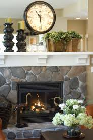 fireplace mantel decor white mantels always look classy the stone fireplace and white mantel