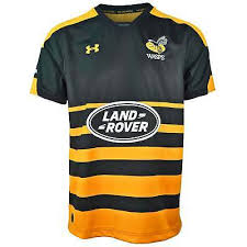 under armour wasps 2018 19 home rugby shirt black and yellow