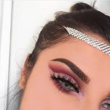 red and silver eye makeup photo 1