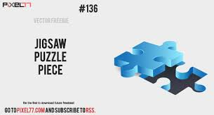 Free Vector Of The Day 136 Jigsaw Puzzle Pieces Pixel77