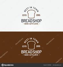 Bread Shop Logo Set With Bread Line Style For Bakery House Stock
