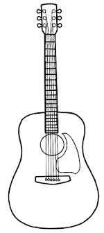Simple Line Art Vector Image Of Acoustic Guitar Art Guitar