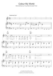color my world sheet music sheet music digital files to print licensed petula clark digital