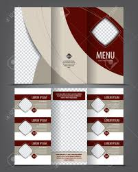 Food Brochure Layout Cuisine Tri Fold Menu Design Template