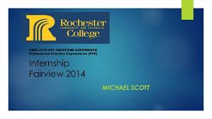 Fairview My Chart Online Internship Fairview 2014 Powerpoint Presentation Michael