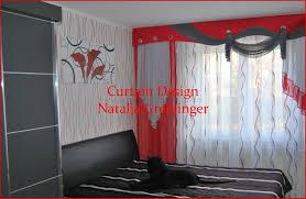 Schabracke Gardine 903990 Schlafzimmer Vorhang Mit Roter Das Beste
